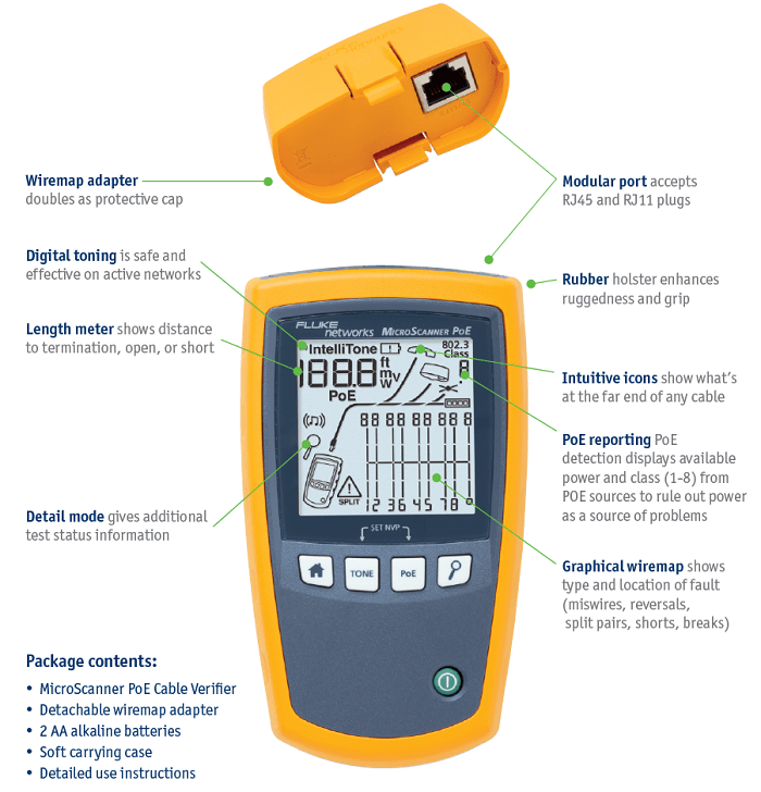 Fluke Networks Soft Pouch Case  For SimpliFiber PRO AND MS2 MicroScanner2