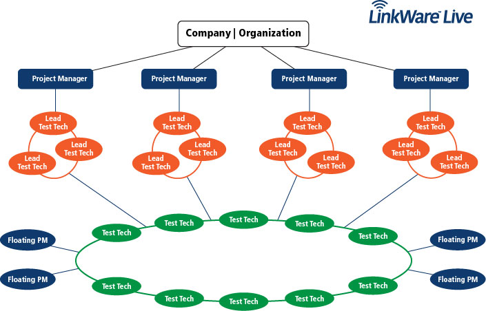 LinkWare™ Live Professional Licenses Hierarchy