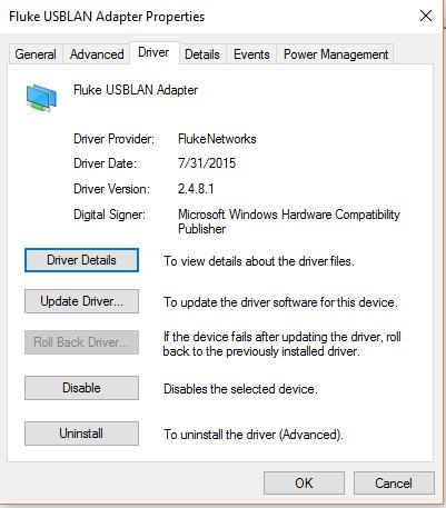 Versiv USB Connection Details and Troubleshooting   Fluke