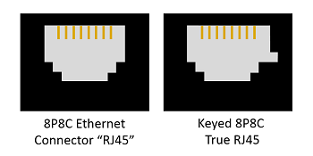 8P8C Ethernet Connectors and Key Connector