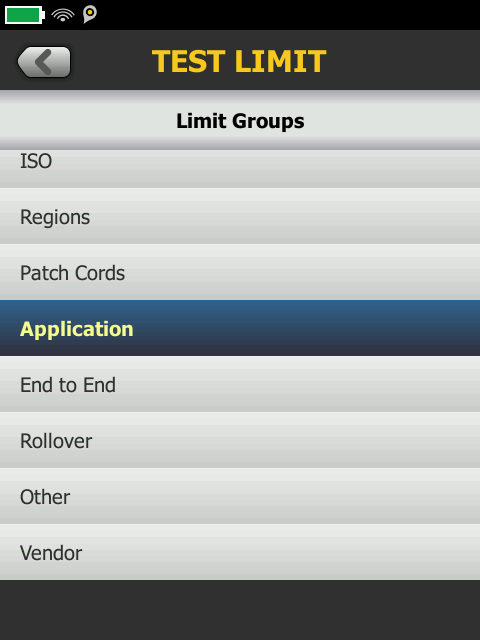 Selected Application Group