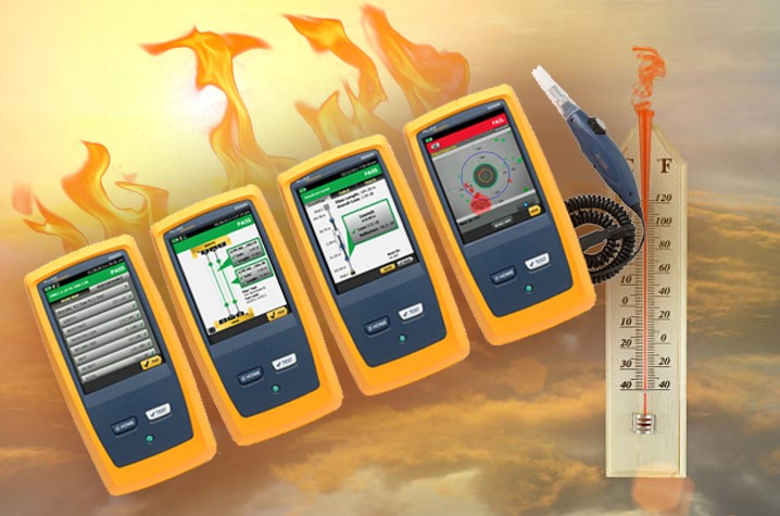 Versiv certification testers will take you out of the heat faster thanks to record test times.