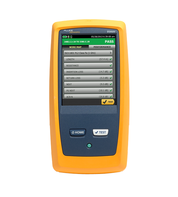 Testeur de qualification CableIQ ™ de Fluke Networks