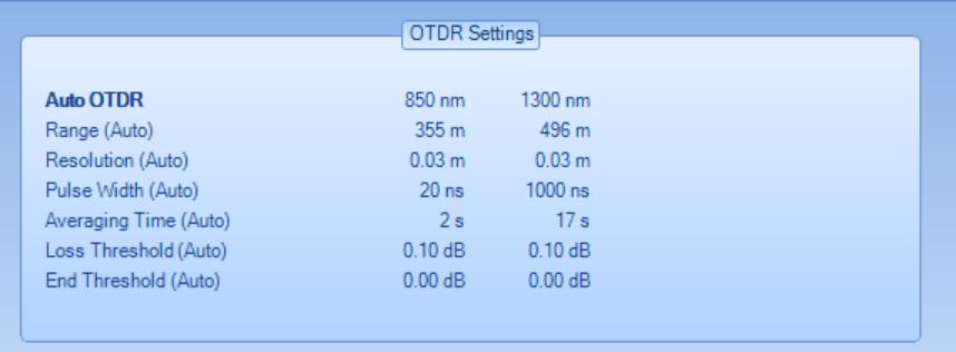 OTDR Setting
