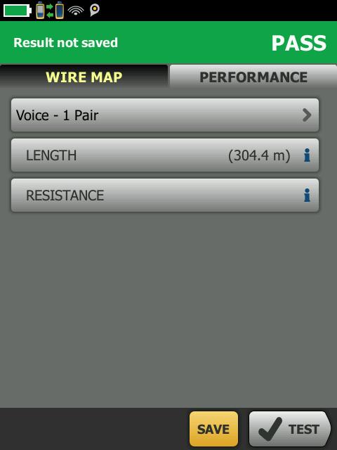 Voice Pair Performance Screen
