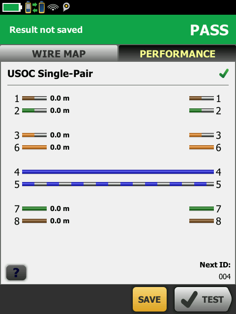 Voice Pair Wire Map Screen