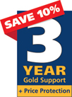 3 anos de Gold Support para CableIQ Qualification Tester