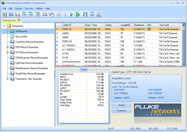 Versiv Features Fluke Networks