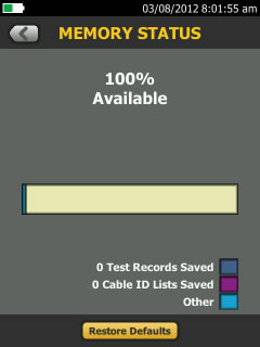 Versiv TFS Restore Defaults Button
