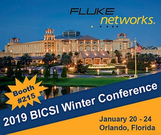 BICSI Winter Conference – Fluke Networks' Booth #215