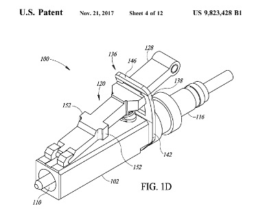 U.S. Patent Illustration of the New Metal LC Connector