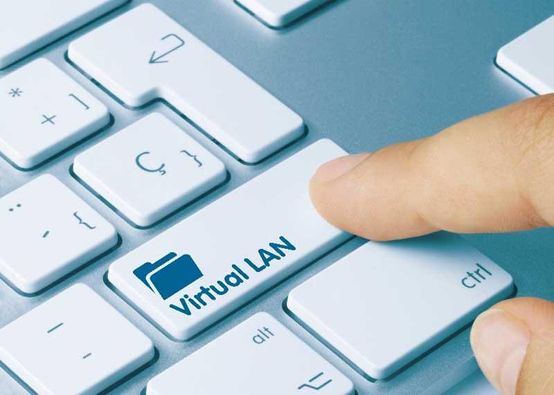 Virtual LAN Represented on a Computer Keyboard