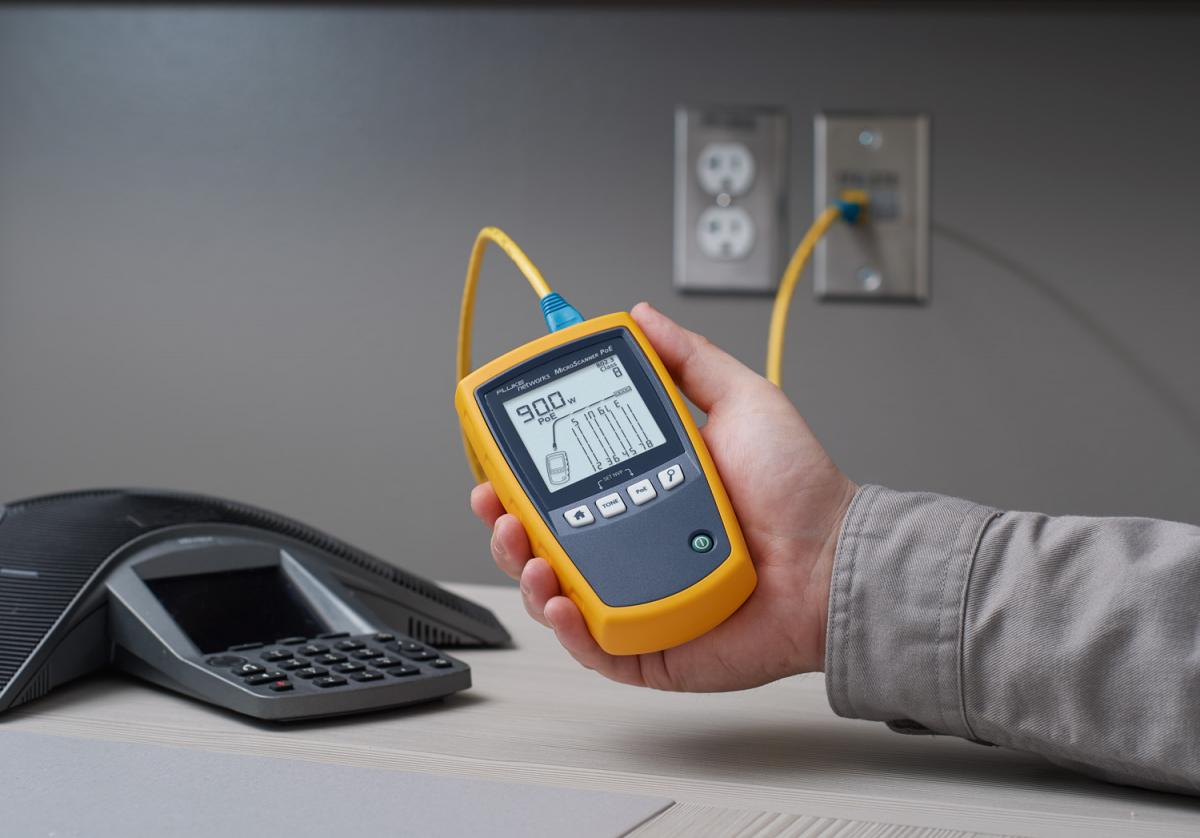 Fluke Networks Announces the New MicroScanner™ PoE - The First