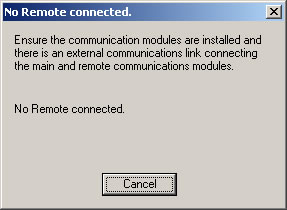 No Remote Connected Message