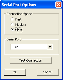 Selected Slow Connection Speed