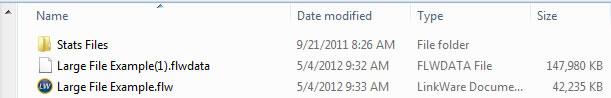 Separated Data Files Screen