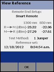 Smart Remote Mode Reference Values