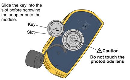 SimpliFiber Adapter Caution Warning