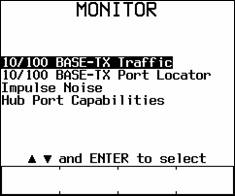 Auto Negotiating Ethernet Functions in Monitor Menu