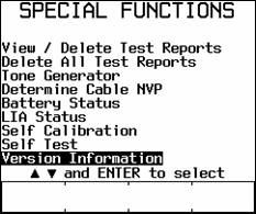 Special Function Screen in DSP-4100