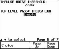 Impulse Noise Threshold Screen