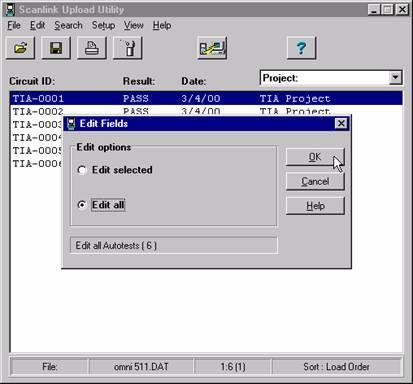 Edit Fields Options Wiindow
