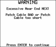 Warning Message for Excessive Near End NEXT