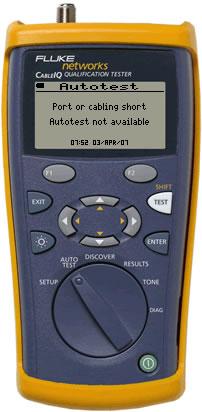 CableIQ Autotest Not Available Message