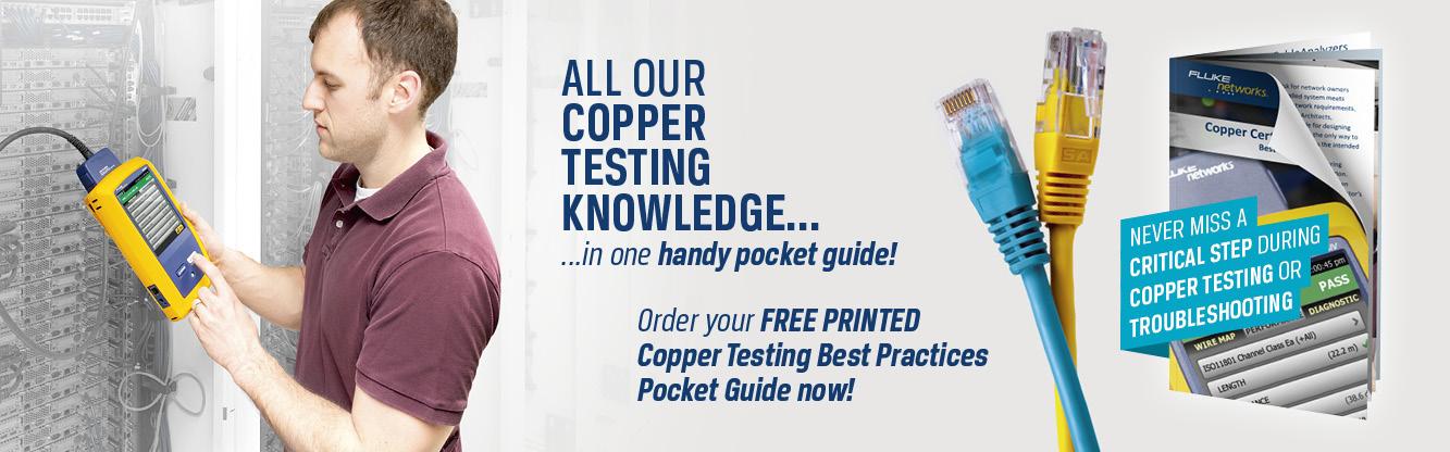 Закажите бесплатный карманный справочник с практическими рекомендациями по тестированию медных кабелей