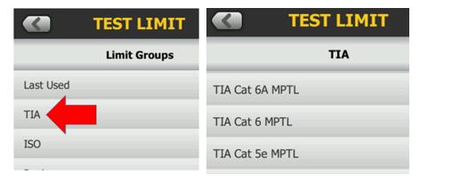 MPTL Test Limits